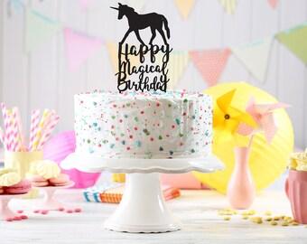 Unicorn cake topper, Unicorn toppers, cupcake toppers, glitter cupcake topper, gold glitter cake topper, Unicorn party, custom cake topper