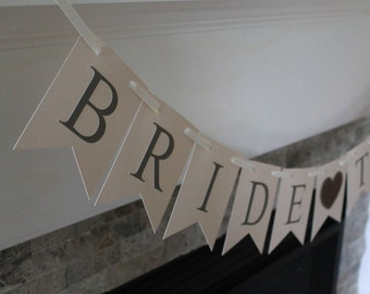 Heart bridal shower banner | Bridal shower decorations | Heart decorations | Bridal shower banner