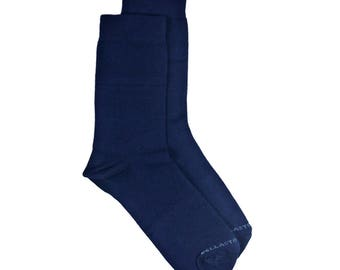 Bamboo MidCalf Socks - BLUE color - Dress socks