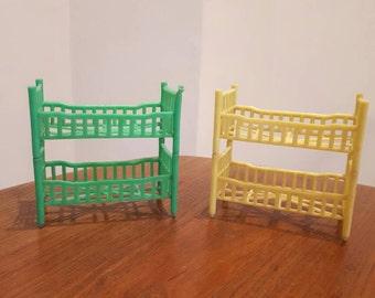 2 Sets of Vintage Dollshouse Bunk Beds