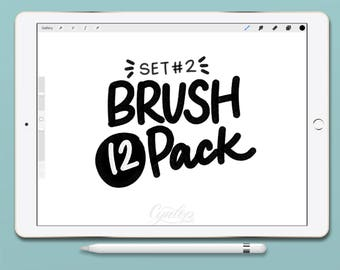 Procreate Brush Pack Set 2, 12 Brushes Total