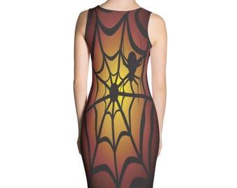 Spider web dress, Halloween dress, Spider dress
