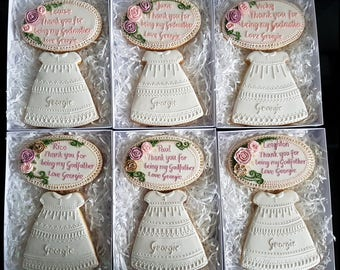 Personalised cookies/ Personalised cookies for Godmother/ Baptism gift box/ Christening/ Baptism favours / Personalised biscuits