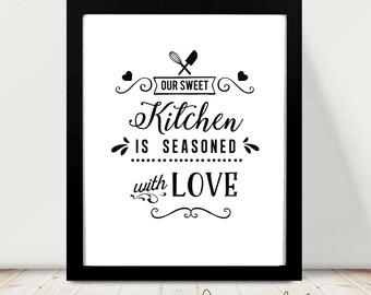 Kitchen Printable art - Kitchen - PRINTABLE Art, Wall art, Home Decor, Fashion print,Trendy Wall Art, Wall prints, Printable Art for Kitchen
