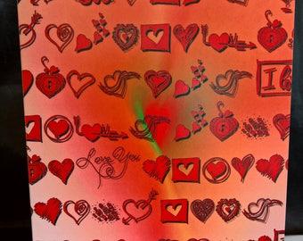 Scattered Love - Valentine Card