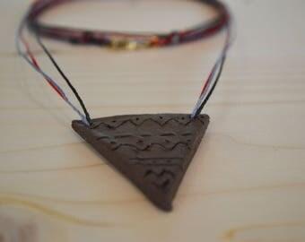 Ceramic triangle necklace