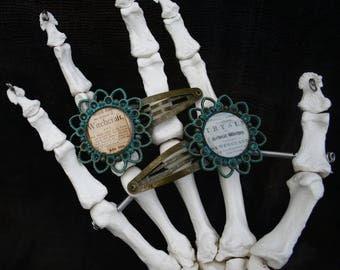 Salem witch trials hair clip set