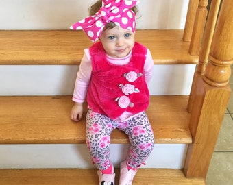 Matching Headbands- Pink Polka Dot Headband; Pink Polka Dot Bow; Pink Polka Dot Headwrap; Mommy and Me Headbands; Big Bow Headband; Bows