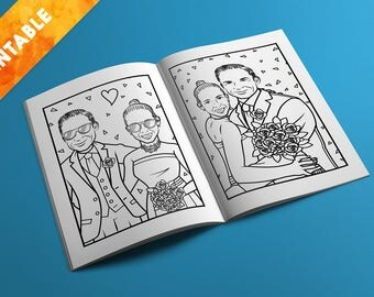 Printable Personalised Wedding Activity Booklet | Colouring In | Puzzles | Wedding Favours | Wedding Entertainment