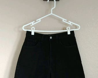 High Waist Vintage Guess Black Shorts - Measured 27 inch Waist