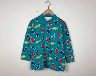 90s Primary Shirt Size Medium, Color Block Shirt