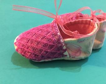 Baby ballerina, baby shoes, mexican baby shoes, new born shoes, princess ballerina shoes, zapatillas de bebe, 3 meses, merceditas de bebe