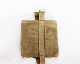 Vintage Canvas Water Bottle Holder, Army canteen holder 1980's, Gift