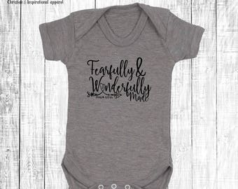 Fearfully and wonderfully made - Baby Onesie