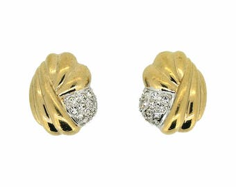 Grossé 1980s Gold Plated Vintage Shell Earrings