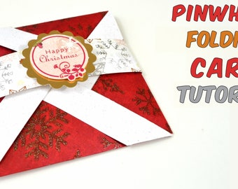 Tutorial - Pop up Card for Christmas - Red, Blue etc - Step by step instructions