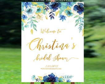 Bridal Shower Welcome Sign,  Bridal shower invitation, Bridal Shower sign, Bridal Shower decoration, welcome wedding sign - US_BS0501