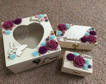 Rose Full Set of Storage Boxes