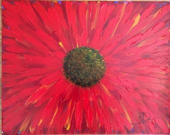 "Acrylic Painting ""Red Poppy"""