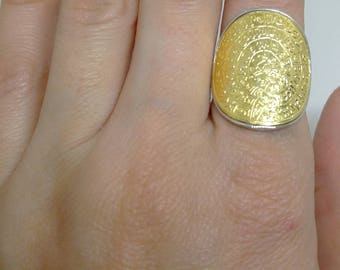 PHAISTOS DISC RING/ Greek History Jewelry/ Minoan Jewelry/ Ancient Ring