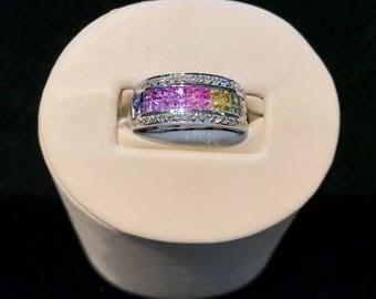 14k Gold Sapphire and Diamond Ring SAPR-6