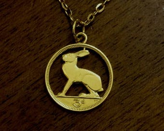 Irish Threepenny - Cut Out Coin Necklace