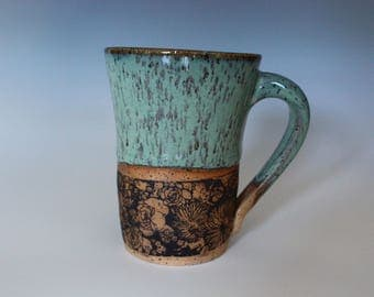 Teal Flower Child Mug