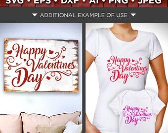 Happy Valentines Day Sign SVG   Valentine Svg   Valentines Day Decor    Valentines Decor SVG