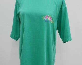 BURBERRYS Shirt Vintage BURBERRYS Floral Logo Made In England Tee T Shirt Size M