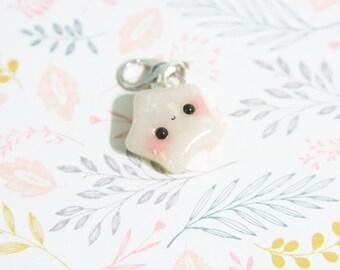 Kawaii Chubby Opal Star - Polymer Clay Charm