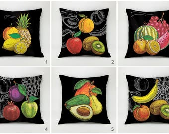 kitchen pillow case fruit pillow kitchen cushion citrus pillow ananas pillow lemon pillow kiwi pillow cover decorative pillow throw pillow