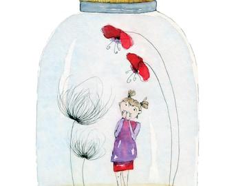 "Postcard ""It's in the jar!"""