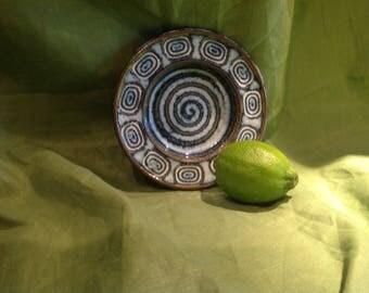 Vintage Soholm Stentjo Denmark Pottery Trinket Dish