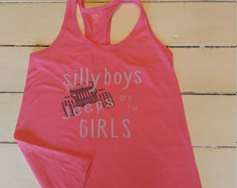 Silly boys Jeeps are for Girls Child Tank/Jeep Child Tank/Jeep Child Tee/Jeep gift/Jeep baby gift/Jeep stuff/ Jeep baby shower/jeep