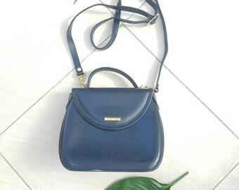 VINTAGE OROTON BAG • Vintage Designer bag• Black leather bag • Leather Crossbody bag • Festival Crossbody bag • Handmade bag • Shoulder Bag