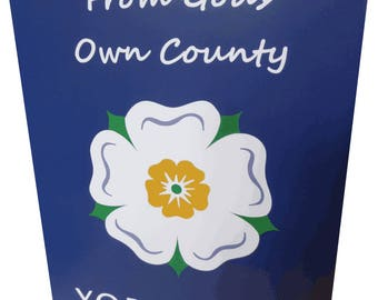 Yorkshire Rose From God's Own County Greetings Card. Pack of 4
