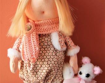Russian doll with Teddy bear