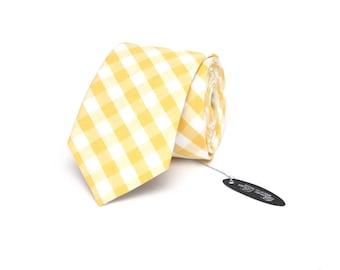 Yellow Tie Men's skinny tie Wedding Ties Necktie for Men Camellucci
