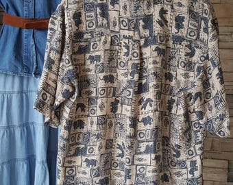 Men's silk shirt  from the 80s