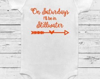 Stillwater Saturdays- Oklahoma State University Onesie - Oklahoma State Onesie - OSU Baby - Stillwater Baby - Oklahoma Onesie - Okie Baby
