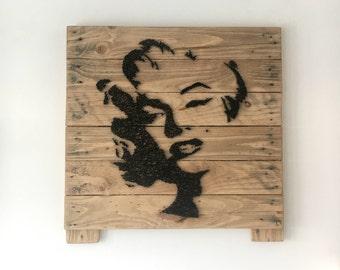 Marilyn Monroe - Portrait - String Art - Reclaimed Pallet Wood Wall Art - PopArt