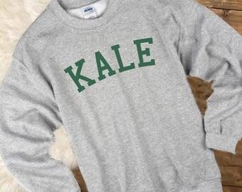 Kale Sweater, Kale Sweatshirt, Kale Jumper, Kale Pullover, Kale Tee Top Vegetarian T Shirt Tee Mens Womens Ladies Gift Animal Lover Tee