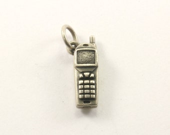 Vintage Cell Phone Charm Sterling 925 CH 42