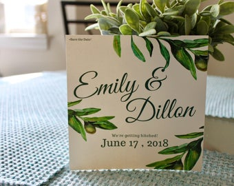 Save The Date Invitations, Engaged Invite, Wedding Invite, Palm Trees, Wedding, Custom