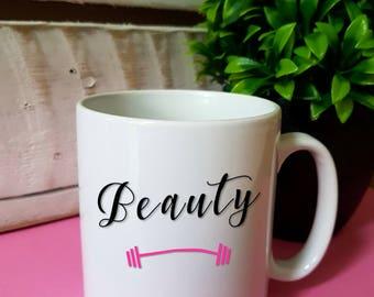 Schönheit Beast Fitness Gym Reise Wasserflasche Emaille Becher  Personalisierte Geschenk Valentinstag Geschenk Verlobten Freund Freundin  Liebhaber