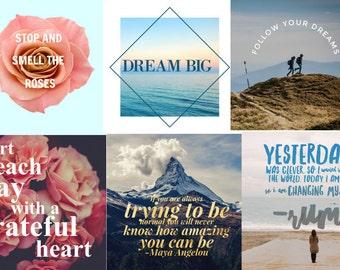 20 Inspirational Instagram Posts - Branding, Social Media, Social Posts, Instagram marketing, Motivation Facebook, Twitter, Hashtags