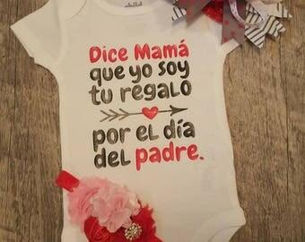 Onesie español, cualquier cita que le gustaría, especificar al ordenar, niña o niño