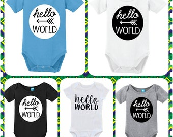 Hello World, Preemie, Newborn, 0-3 Months, Great For Coming Home or Baby Shower Gift...Super Sweet