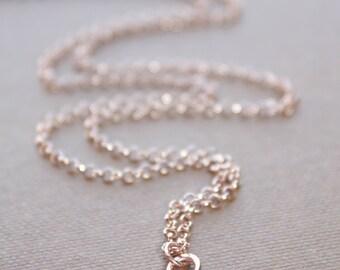 Letter E Necklace, Rose Gold Initial Necklace, Cursive Letter Necklace, Lowercase Initial Necklace, Personalized Necklace, Di & De
