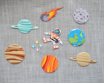 Lovely planet iron-on patch ,cartoon planet earth Embroidered  patch